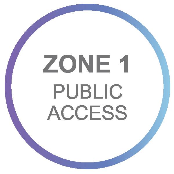 Zone 1 - Public Access